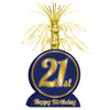 Beistle 21st Birthday Centerpiece (Pack of 12) - 21st Birthday, Birthday Party Decorations