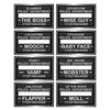 Beistle Speakeasy Mug Shot Photo Fun Signs (12 packs) - Roaring 20's Party Theme