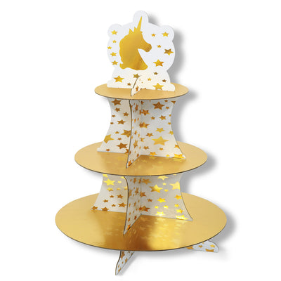 Beistle Unicorn Cupcake Stand (Pack of 12) - Unicorn Party Theme
