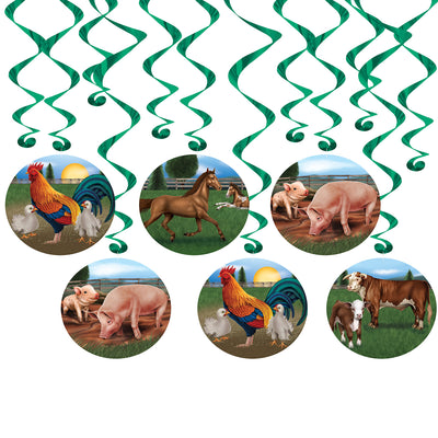Farm Animal Whirls (Pack of 72)