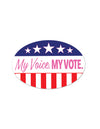 My Voice. My Vote. Peel 'N Place (Pack of 12)