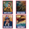 World War II Poster Cutouts (Pack of 48)