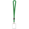 Lanyard with Card Holder, green
