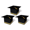 Grad Cap Favor Boxes, black