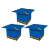 Grad Cap Favor Boxes, blue