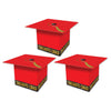Grad Cap Favor Boxes, red