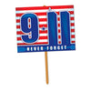Beistle 9/11 Yard Sign (Pack of 6) - 4th of July Flags, 4th of July Political and Patriotic
