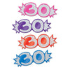 Mini Glittered Foil 30 Cutouts, Assorted Colors