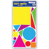 Party Shapes Peel 'N Place - circles, squares, triangles
