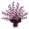 16 Gleam 'N Burst Centerpiece, black & cerise