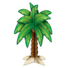 3-D Palm Tree Centerpiece, party supplies, decorations, The Beistle Company, Luau, Bulk, Luau Party Supplies, Luau Party Decorations, Luau Party Centerpieces