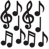 Mini Musical Notes Silhouettes, party supplies, decorations, The Beistle Company, Music, Bulk, Rock and Roll Party Theme