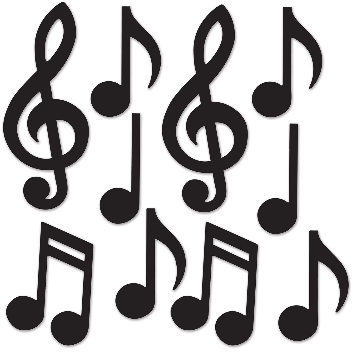 Mini Musical Notes Silhouettes (Case of 240)