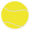Tennis Ball Cutout, party supplies, decorations, The Beistle Company, Tennis, Bulk, Sports Party Supplies, Tennis Party Supplies