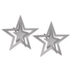Pkgd Silver 3-D Foil Hanging Stars, party supplies, decorations, The Beistle Company, Awards Night, Bulk, Awards Night Party Theme