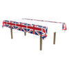 Union Jack Tablecover, party supplies, decorations, The Beistle Company, British, Bulk, Other Party Themes, Olympic Spirit - International Party Themes, British Themed Decorations