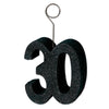 Glittered 30 Photo/Balloon Holder
