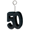 Glittered 50 Photo/Balloon Holder, black