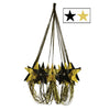 Star Chandelier Black and Gold, party supplies, decorations, The Beistle Company, Awards Night, Bulk, Awards Night Party Theme