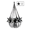 Star Chandelier Black and Silver, party supplies, decorations, The Beistle Company, New Years, Bulk, Holiday Party Supplies, Discount New Years Eve 2017 Party Supplies, New Year's Eve Decorations, New Years Eve Hanging Decorations