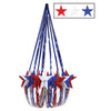 Star Chandelier Red White and Blue, party supplies, decorations, The Beistle Company, Patriotic, Bulk, Holiday Party Supplies, 4th of July Political and Patriotic, 4th of July Party Decorations, 4th of July Party Danglers