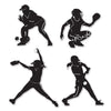 Softball Silhouettes, party supplies, decorations, The Beistle Company, Softball, Bulk, Sports Party Supplies, Softball Party Supplies