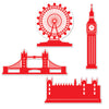 London Silhouettes, party supplies, decorations, The Beistle Company, British, Bulk, Other Party Themes, Olympic Spirit - International Party Themes, British Themed Decorations