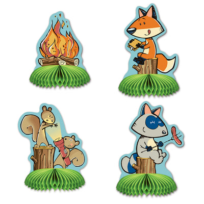Woodland Friends Mini Centerpieces, party supplies, decorations, The Beistle Company, Woodland Friends, Bulk, Other Party Themes, Woodland Friends