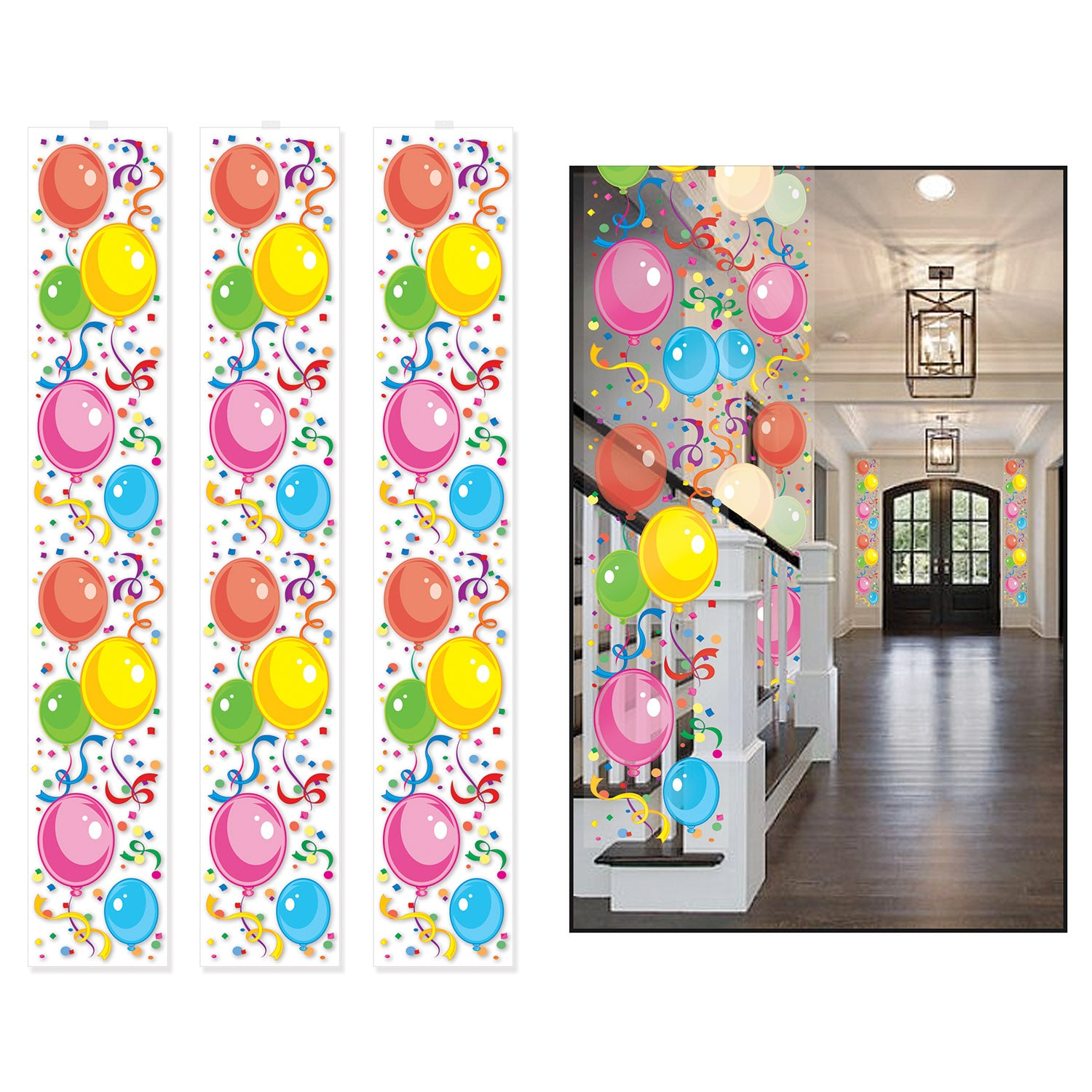 Balloon Party Panels Supplies Decorations The Beistle Company Birthday Bulk