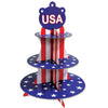 Beistle Patriotic Cupcake Stand (Pack of 12) - 4th of July Flags, 4th of July Political and Patriotic