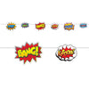 Beistle Hero Action Signs Streamer (Pack of 12) - Popular Themes, Super Hero Party Theme