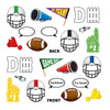 Beistle Football Photo Fun Signs (12 packs) - Football Party Decorations, Football Party Supplies