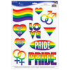 Beistle Pride Peel 'N Place Clings (Pack of 12) - General Party Decorations, Misc. Party Decorations