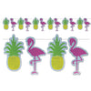 Beistle Flamingo & Pineapple Streamer (Pack of 12) - Luau Party Decorations, Luau Party Signs and Banners, Luau Party Supplies