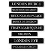 British Street Sign Cutouts, party supplies, decorations, The Beistle Company, British, Bulk, Other Party Themes, Olympic Spirit - International Party Themes, British Themed Decorations