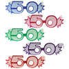 Birthday Party - ''50'' Glittered Foil Eyeglasses