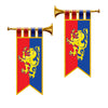 Medieval Party Decorations: Herald Trumpet Cutouts