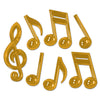 Rock and Roll Party Supplies - Gold Plastic Musical Notes