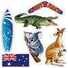 Beistle Australian Cutouts (12 packs) - Australian Themed Decorations, International Party Themes