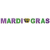Beistle Mardi Gras Streamer (Pack of 12) - Mardi Gras Party Decorations, Mardi Gras Party Supplies