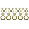 Beistle Diamond Rings Streamer (Pack of 12) - Wedding and Anniversary Decorations