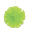 Tulle Balls Lime Green, party supplies, decorations, The Beistle Company, General Occasion, Bulk, General Party Decorations, Tulle Balls