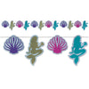 Beistle Mermaid & Seashell Streamer (Pack of 12) - Under the Sea Party Theme