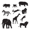 Beistle Jungle Animal Silhouettes (12 packs) - Jungle Party Theme