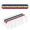 Beistle Printed Americana Table Runner (Pack of 12) - 4th of July Flags, 4th of July Political and Patriotic
