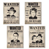 Beistle Gangster Wanted Sign Cutouts (12 packs) - Roaring 20's Party Theme