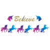 Beistle Unicorn Streamer Set (Pack of 12) - Unicorn Party Theme