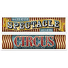 Beistle Vintage Circus Banners (12 packs) - Vintage Circus Party Theme