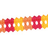 Arcade Garland - golden-yellow, orange, red