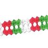 Packaged Arcade Garland - red, white, green